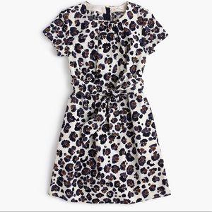 Crewcuts Dresses - Crewcuts Girls' tie-front painted leopard dress